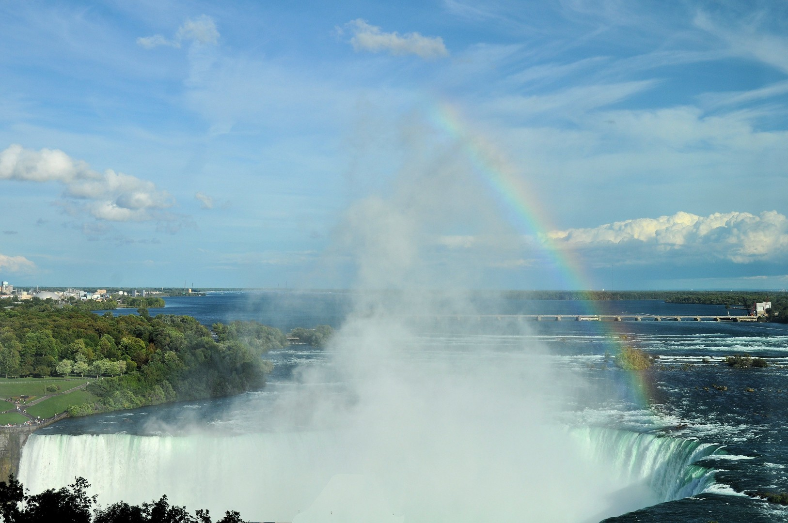 Horseshoe Falls (Niagara Falls) from our hotel room