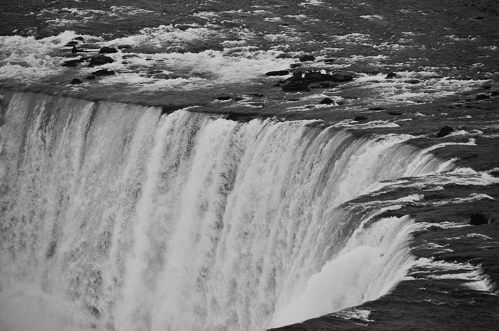 Niagara Falls The Power of Water in Black and White