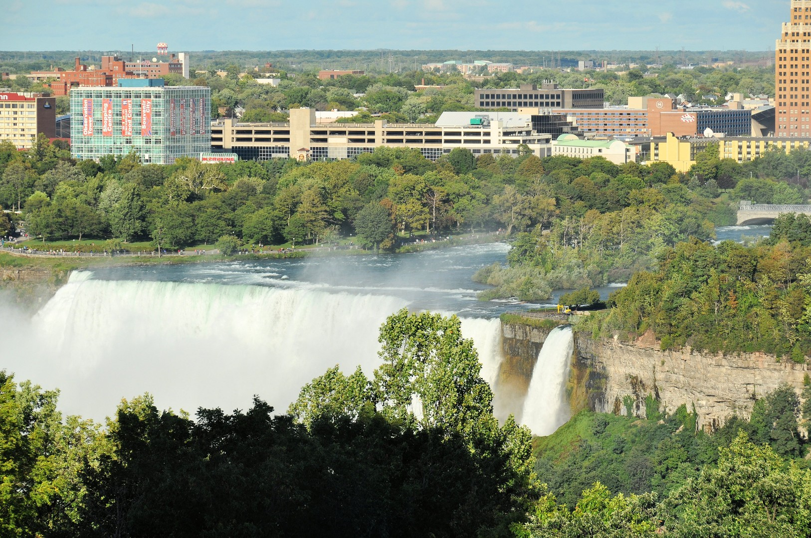 A view from our room of Niagara Falls