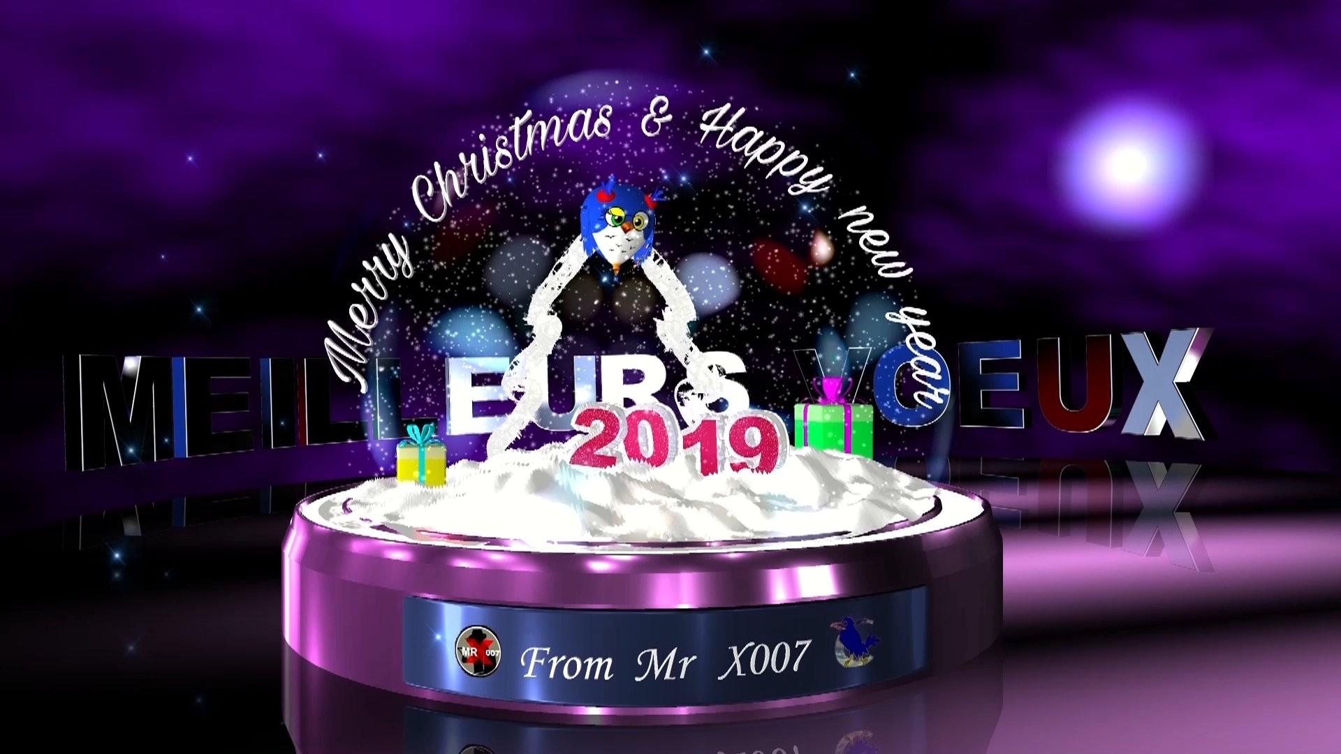 Joyeuses Fêtes de Noëlet Meilleurs Vœux à tous pour 2019