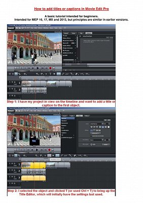 How to add titles in Movie Edit Pro