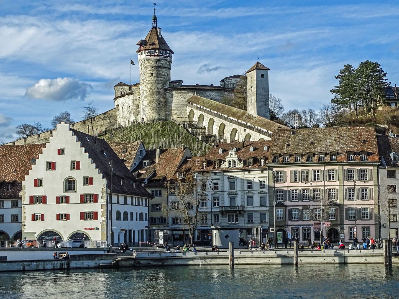 Munot Schaffhausen mit Unterstadt